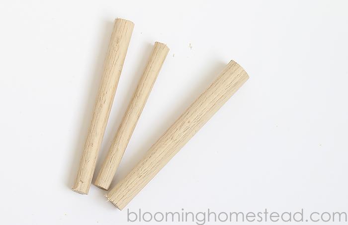 DIY Wood Carrots Tutorial-easy diy project