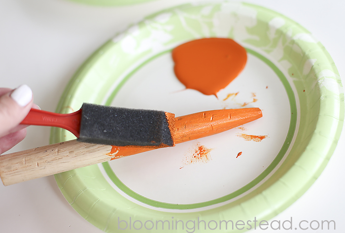 DIY Wood Carrots Tutorial-easy diy project