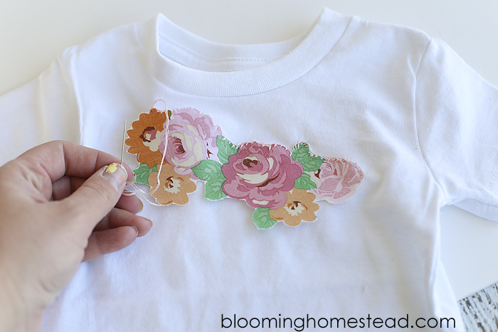DIY Floral Appliqué Shirt tutorial