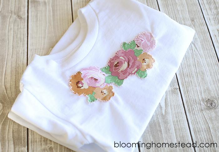 DIY Floral Appliqué Shirt