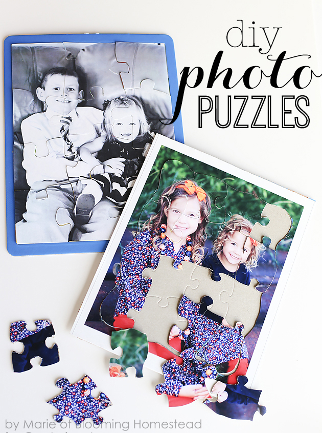 DIY Photo Puzzles by Blooming Homestead