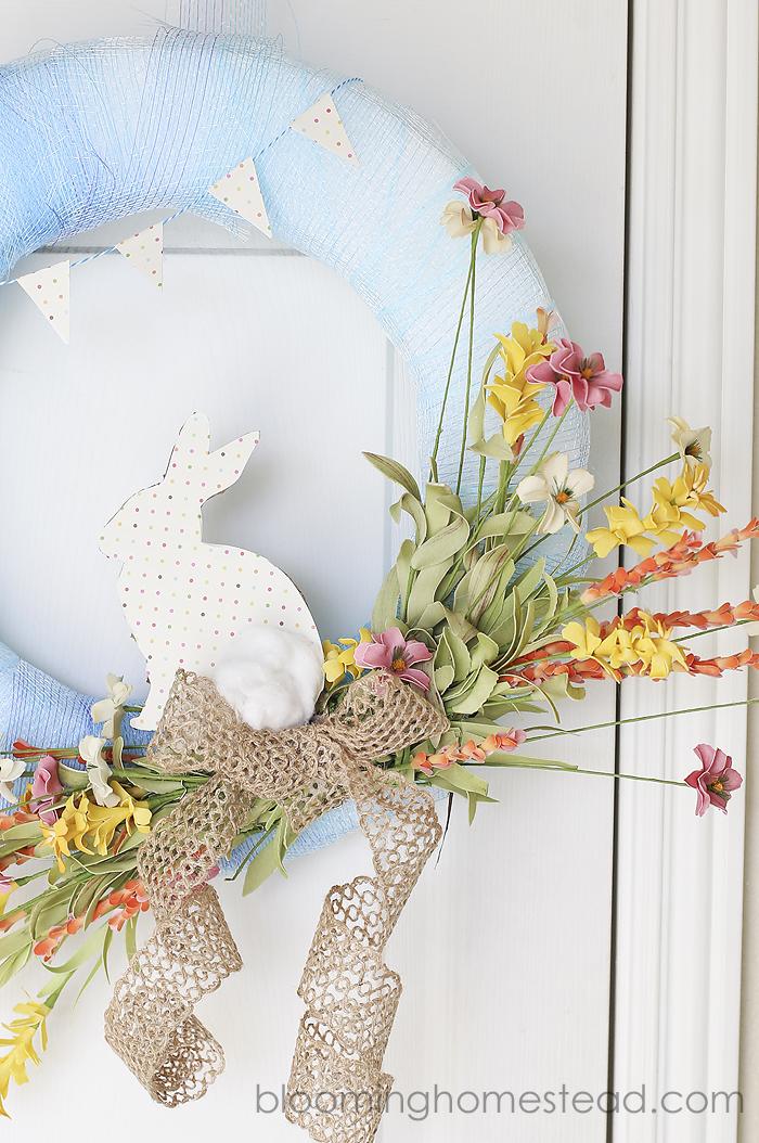 Easy DIY Spring Wreath tutorial
