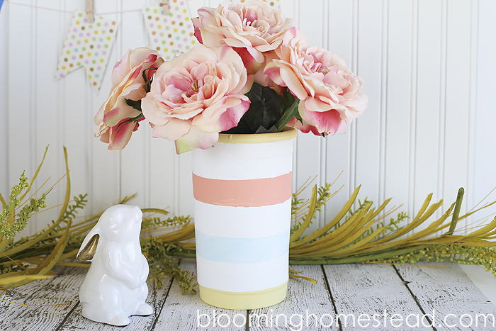 Easy Striped Vase