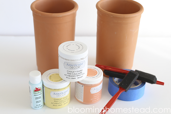 DIY Striped Pot tutorial, transform those terra cotta pots into something beautiful!