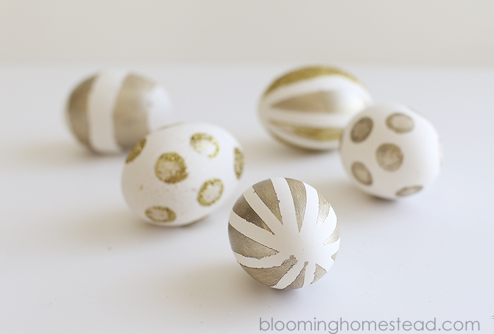 DIY Gold Painted Eggs