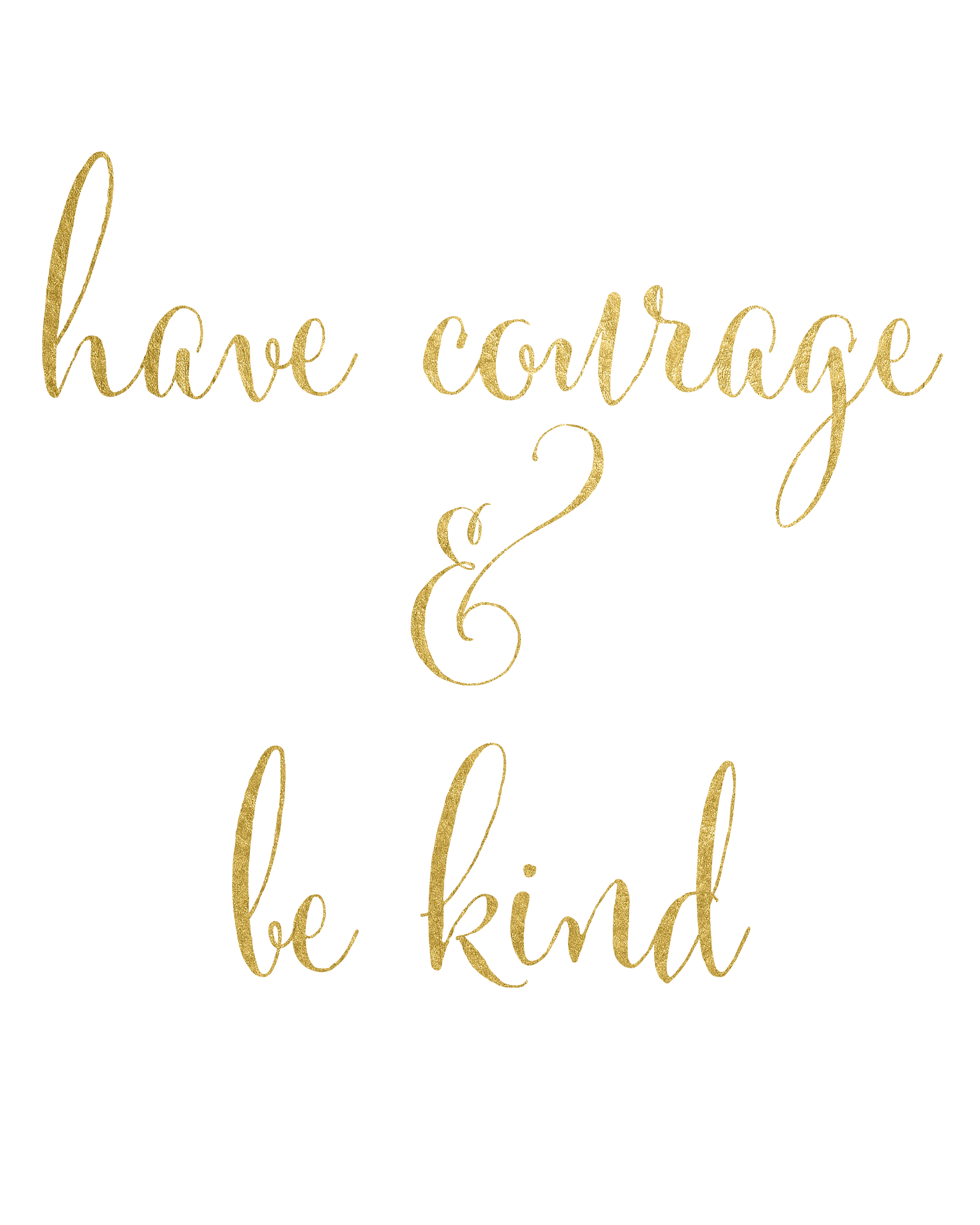 Monster image inside have courage and be kind printable