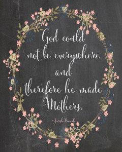 Mother's Day Printable Chalkboard quote for free download at Blooming Homestead.