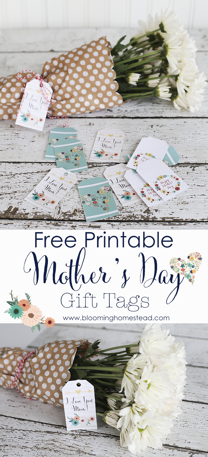 picture relating to Free Printable Mothers Day Tags named Moms Working day Printable Reward Tags - Blooming Homestead