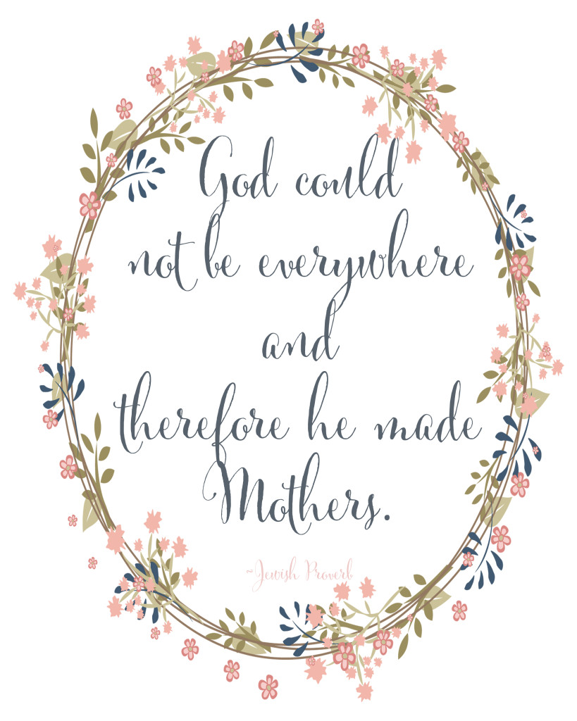 Mother's Day Printable in two styles available for free download at Blooming Homestead.