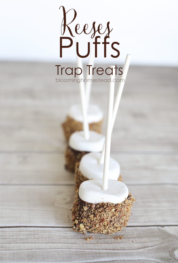 Reeses Puffs Trap Treats by Blooming Homestead