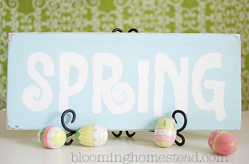 spring sign copy