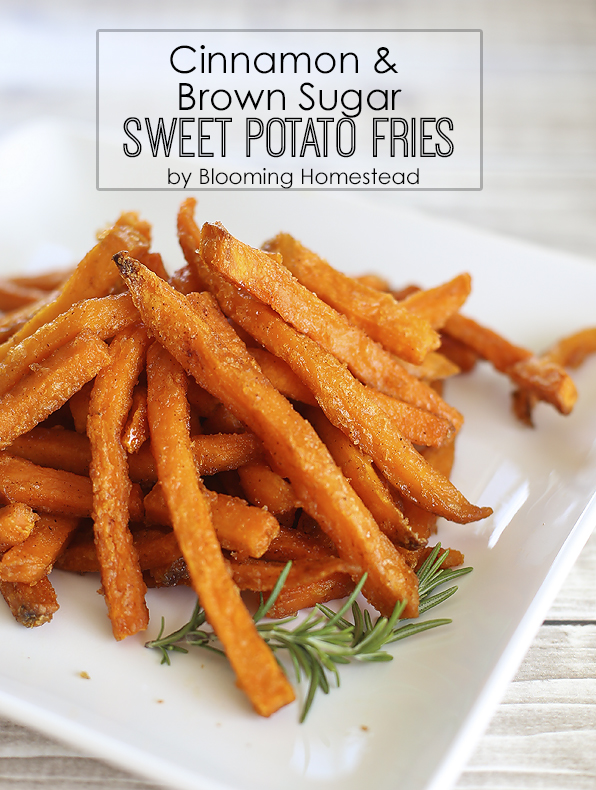 Cinnamon and brown sugar Sweet Potato Fries by Blooming Homestead