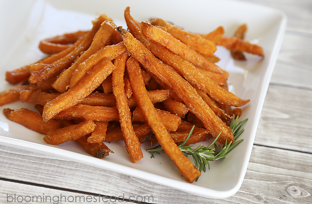 Cinnamon and Brown Sugar Sweet Potato Fries