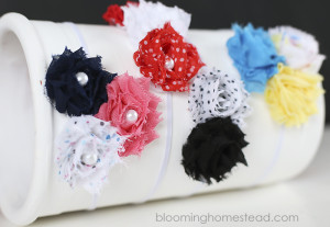 This tutorial shows how easy it is to make these floral headbands from babies to grown ups!