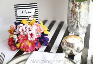 Simple and beautiful floral placecard holder. Perfect for weddings, showers, dinner parties, or really any event. So easy to make too.