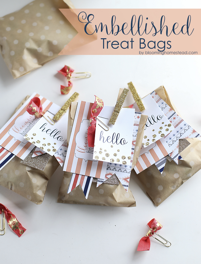 Simple and adorable way to personalize these Embellished Treat Bags. Perfect for any occasion.