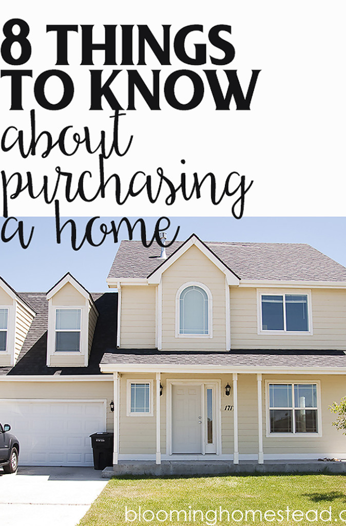 8 things to know about buying a home- great tips especially for first time home buyers.