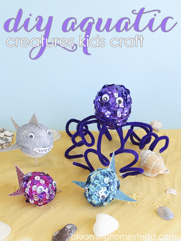These diy aquatic creatures are so fun to make and the perfect easy kids craft for any skill level.