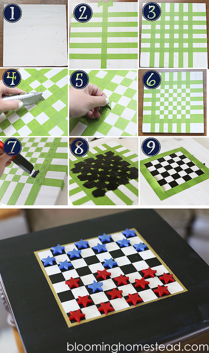 Diy Checkers Blooming Homestead