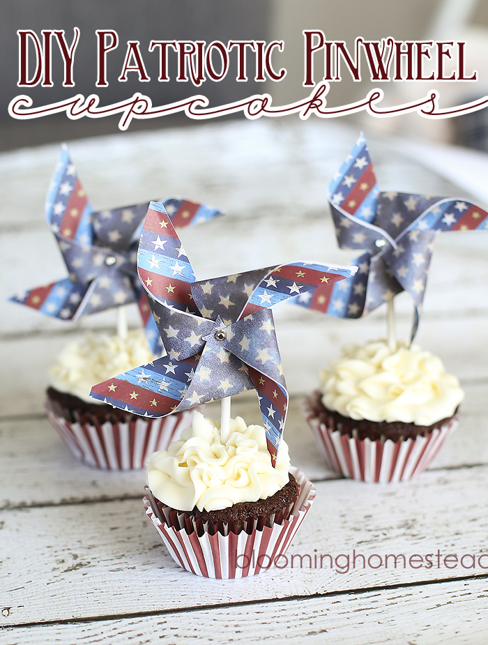 DIY-Patriotic-Pinwheel-Cupcake-at-Blooming-Homestead4