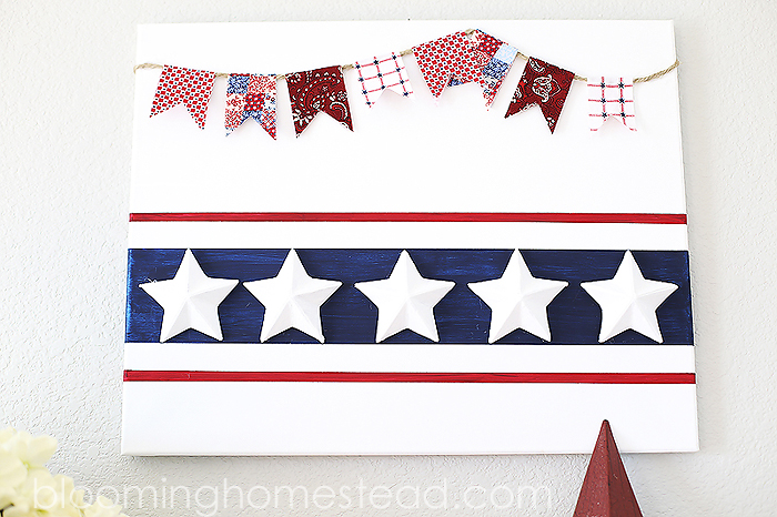 Patriotic wall art, perfect for 4th of July or any Americana decor.