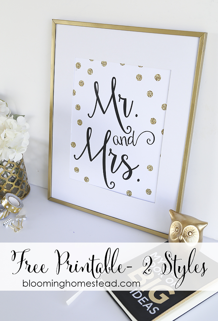 Wedding Gift Idea with Printable - Blooming Homestead