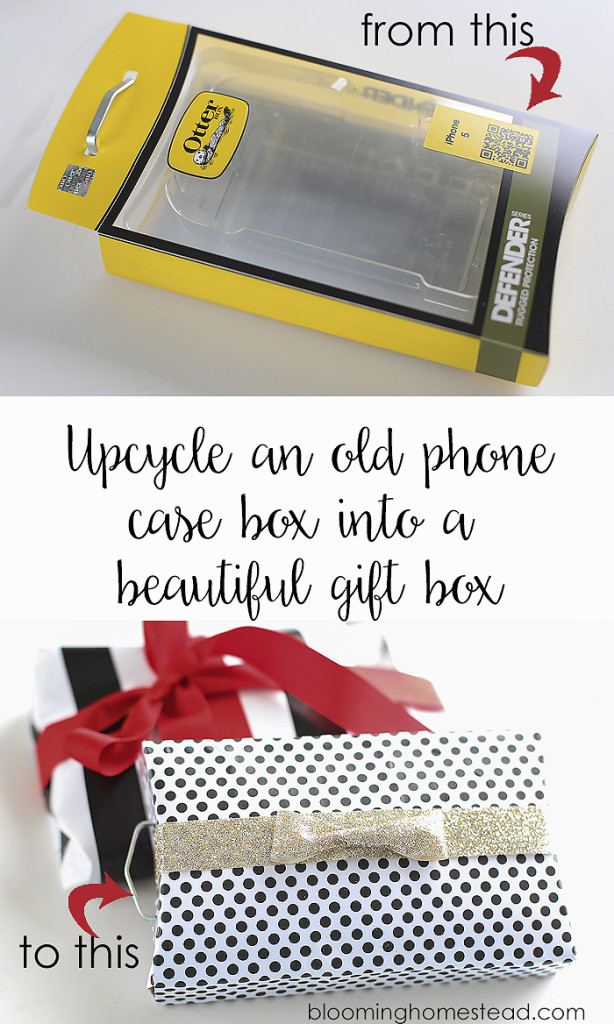 Use scrapbook paper to easily transform old boxes into beautiful gift packages.