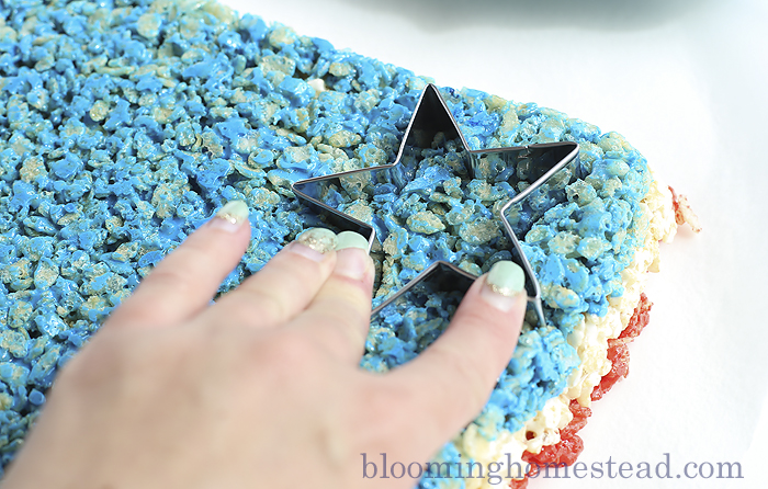Love this fun twist on a old classic. The Patriotic Rice Krispie treats are so cute!