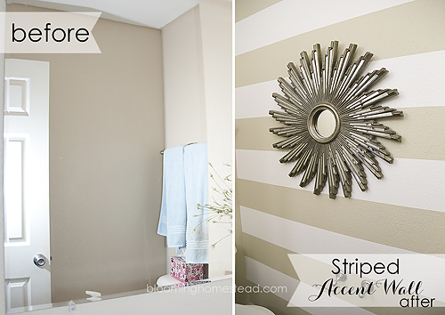 Learn how easy it is to create a striped accent wall with these helpful tips!