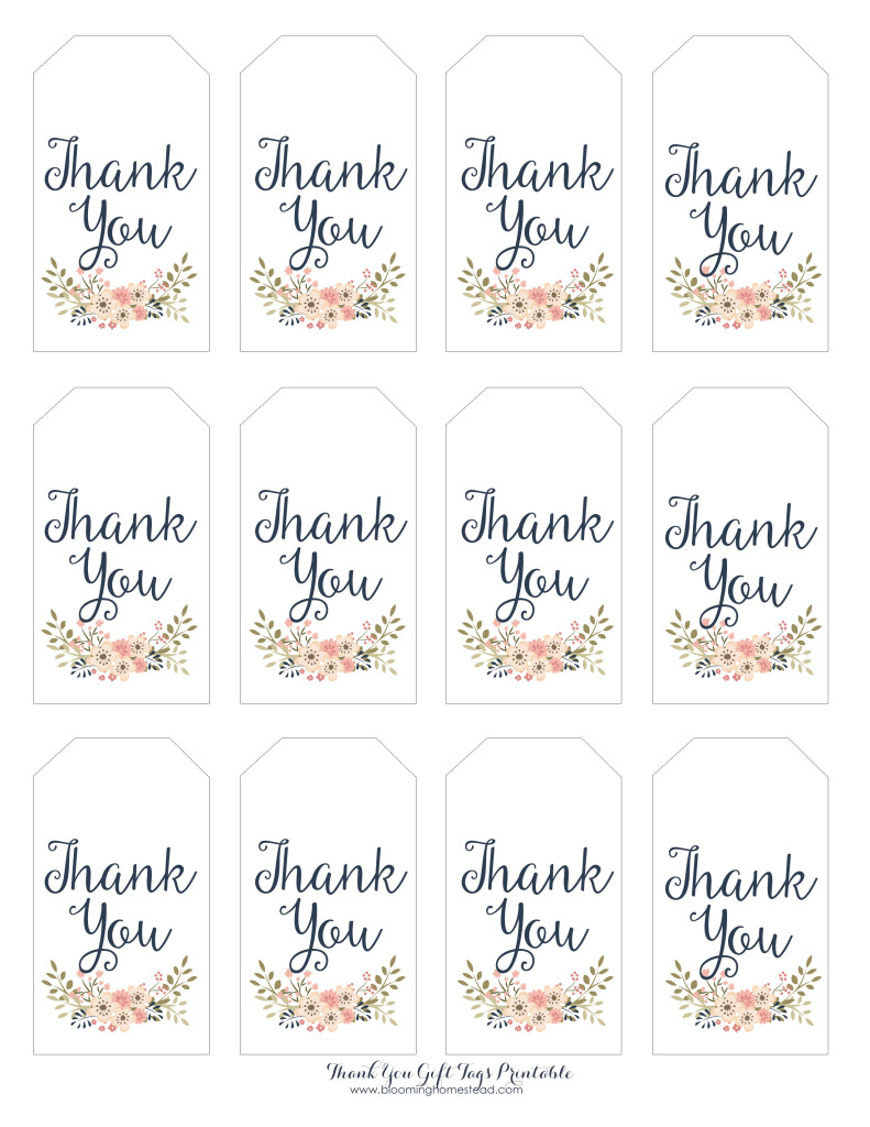 baby shower label template for favors - thank you gift tags blooming homestead