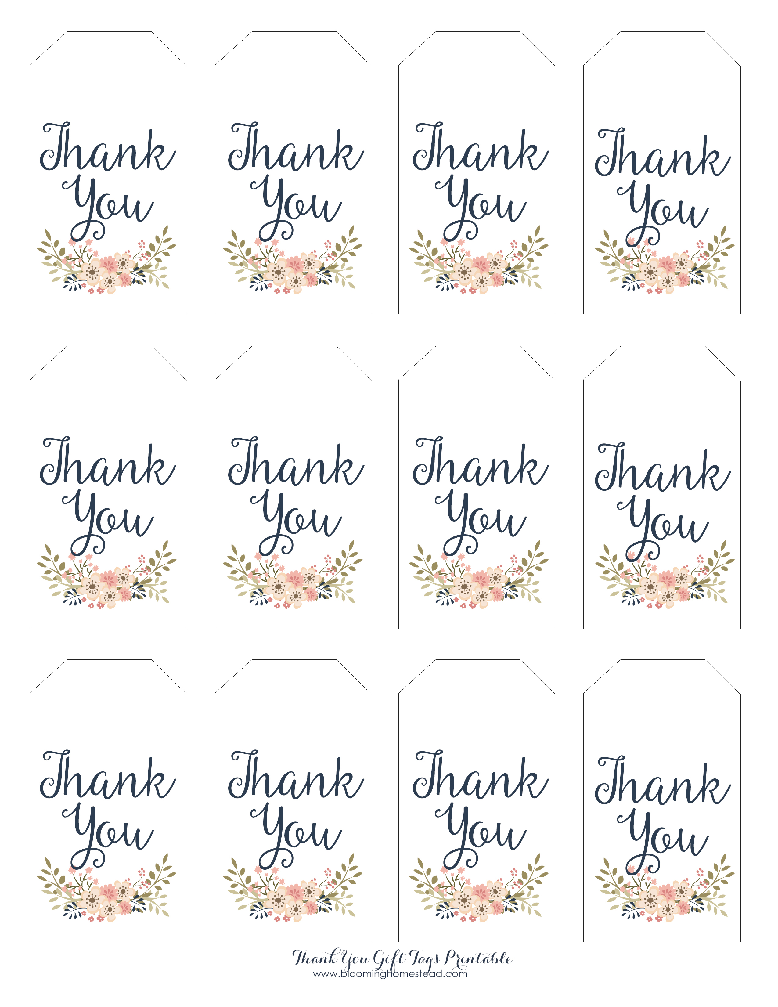 Thank you gift tags blooming homestead for Free printable baby shower favor tags template