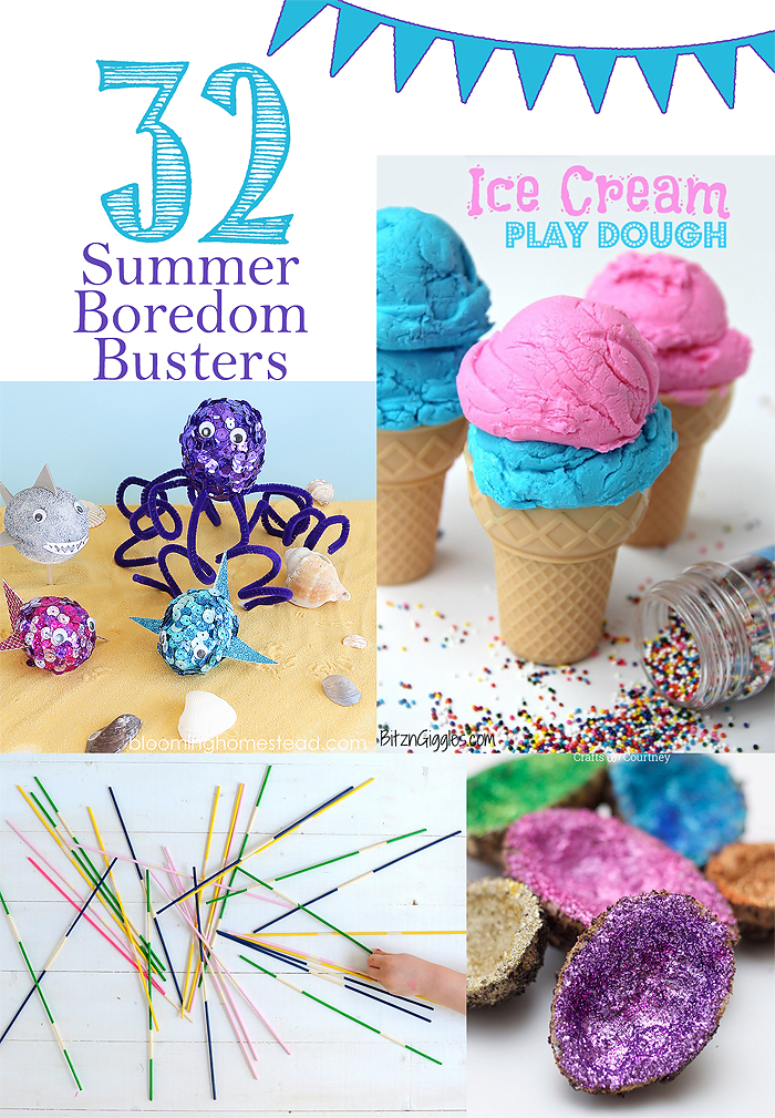 Check out this fabulous collection of boredom busters to keep the kids entertained this summer.