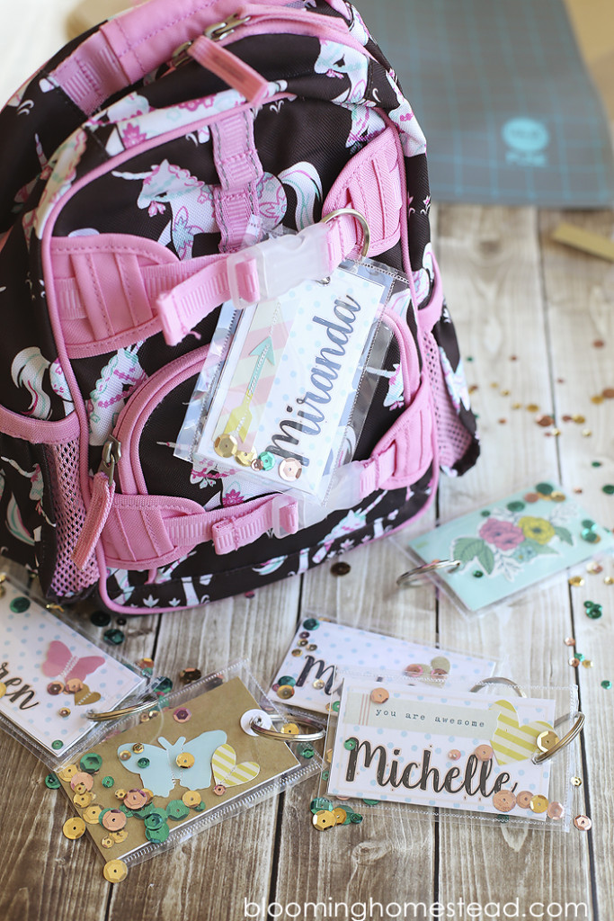 DIY Backpack Tags using Fuse tool with video tutorial1