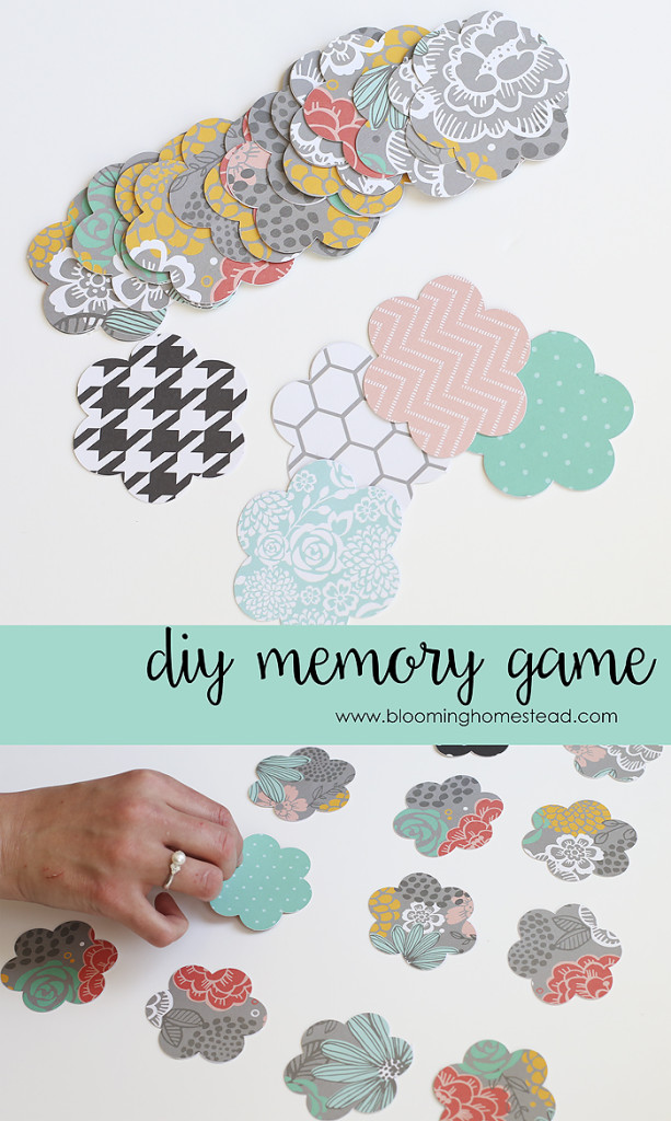 DIY Memory Match Game by Blooming Homestead