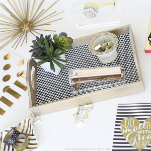 You'll love this easy DIY Houdstooth tray, so simple and easy to make!