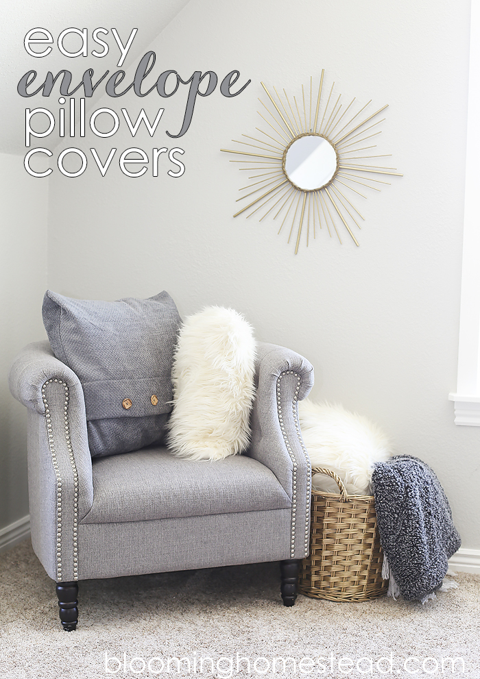 Easy pillow cover tutorial, so easy to switch out fabrics!