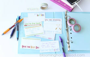 Free printable lunch box notes, so cute!