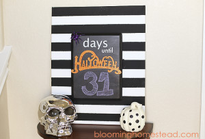 This diy Halloween countdown is so fun and easy to make and is the perfect addition to your Halloween decor.
