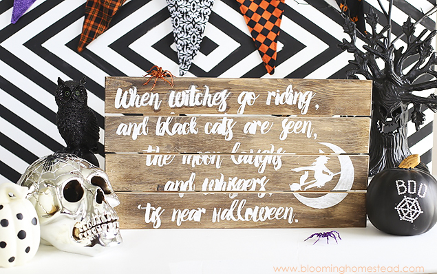 DIY Halloween Sign | Blooming Homestead