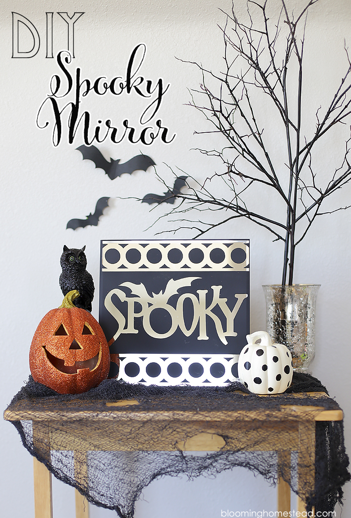 This spooky mirror is so easy to make and you can follow along with full tutorial.