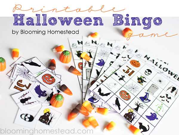 Halloween Bingo Free Printable by Blooming Homestead