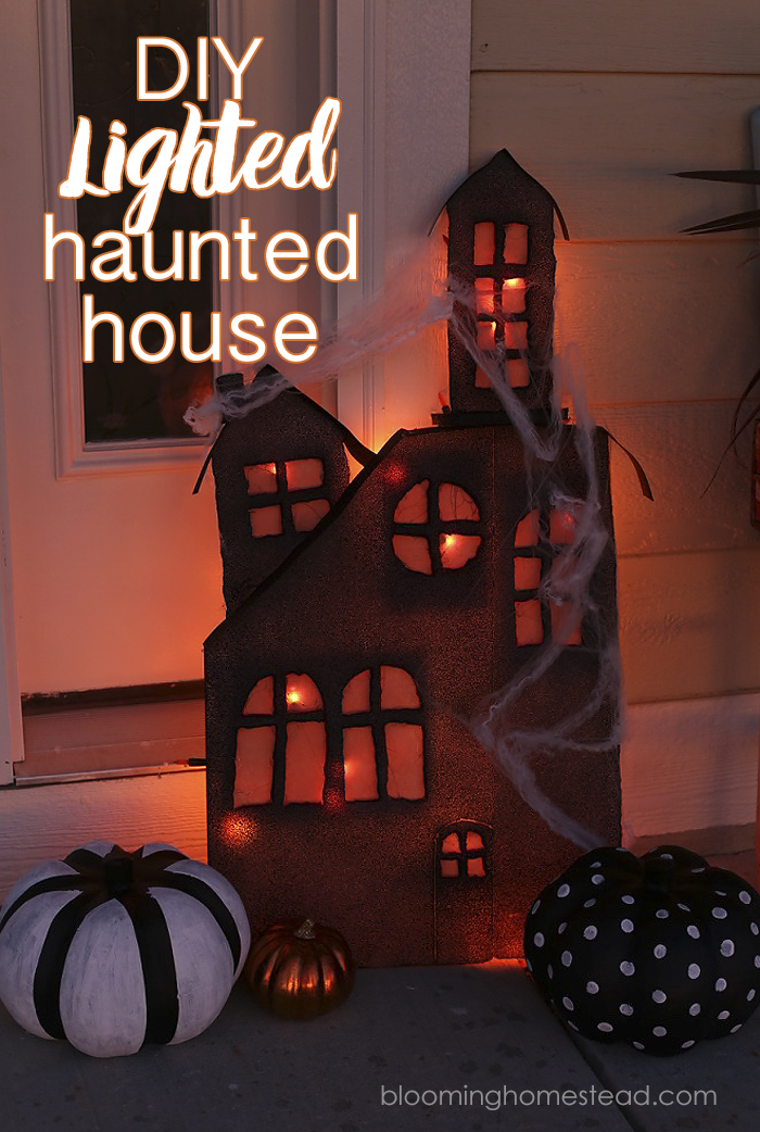 Lighted Haunted House by Blooming Homestead