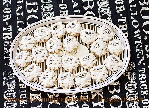 Mummy Cookies tutorial by Blooming Homestead