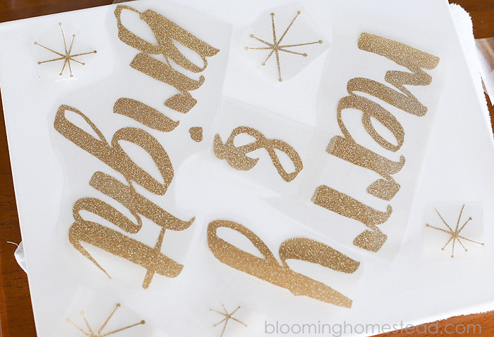DIY Canvas Sign Tutorial by Blooming Homestead
