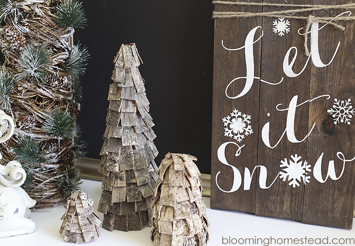 DIY Rustic Trees