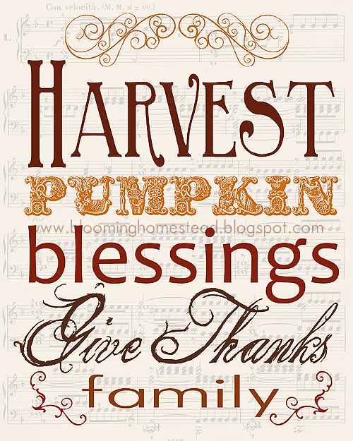Harvest Print by Blooming Homestead