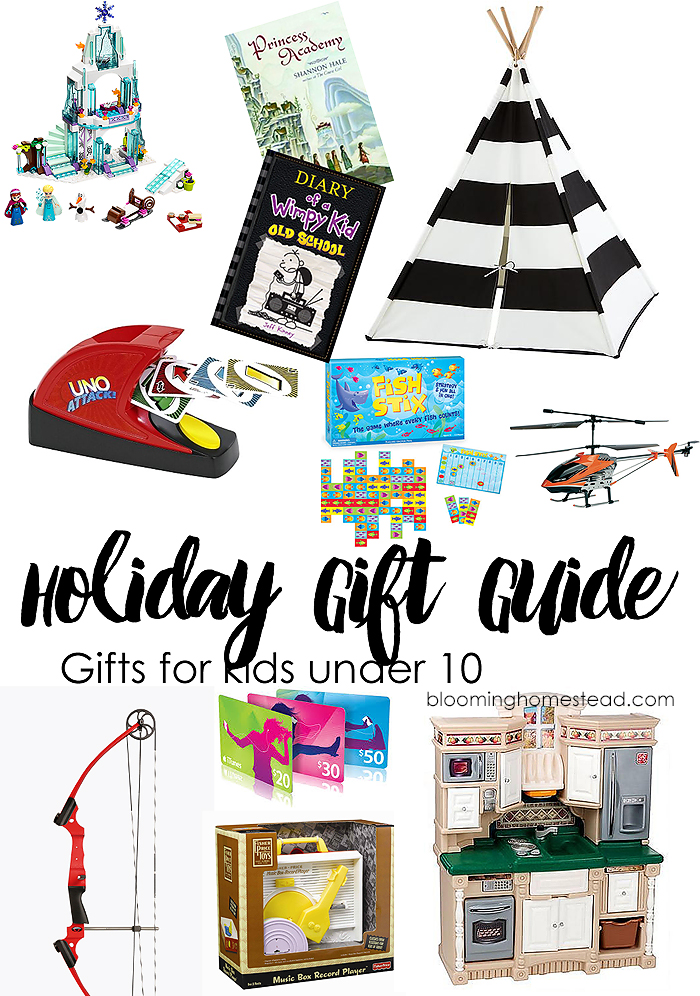 Holiday Gift Guide for Kids under 10