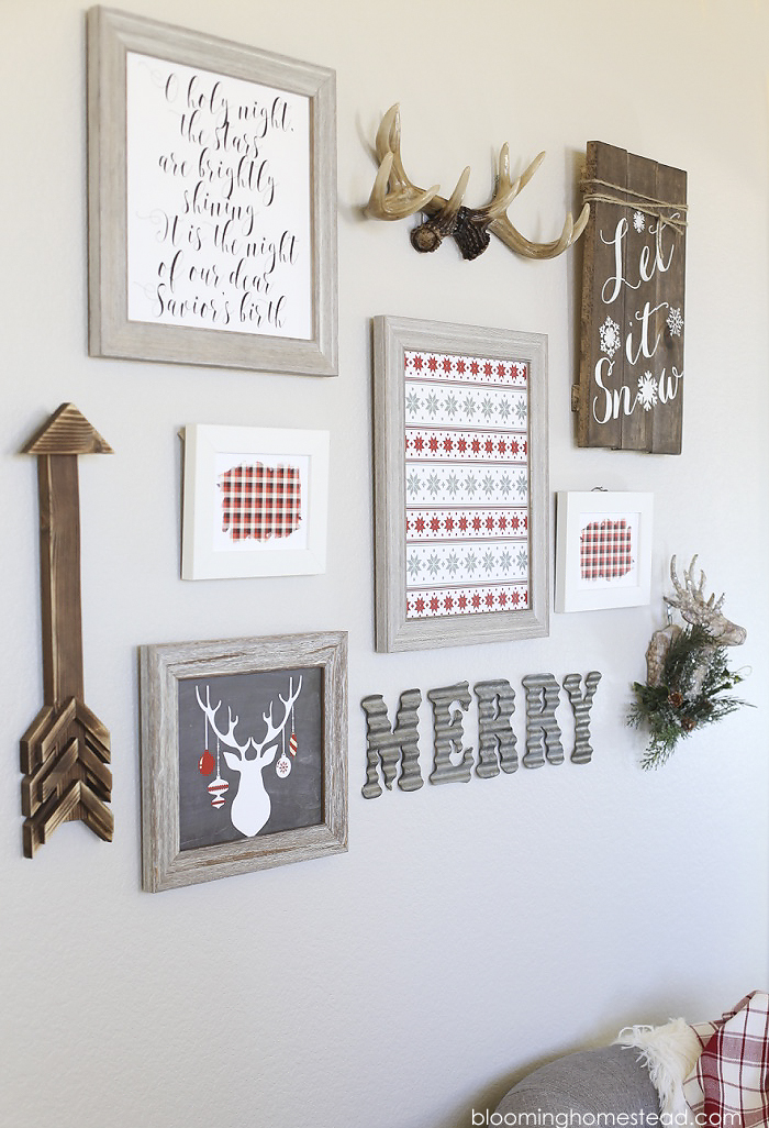holiday gallery wall blooming homestead. Black Bedroom Furniture Sets. Home Design Ideas