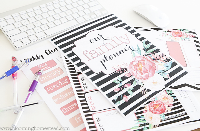Floral Home Organizational Printables