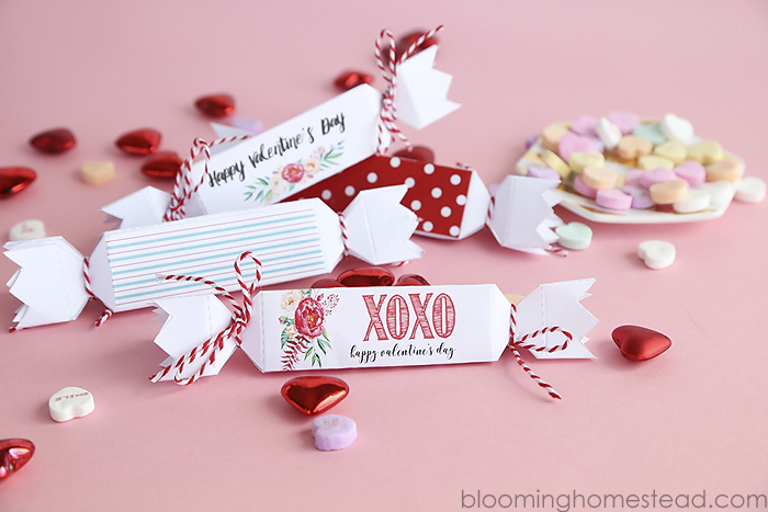 Printable Valentine Favor Boxes